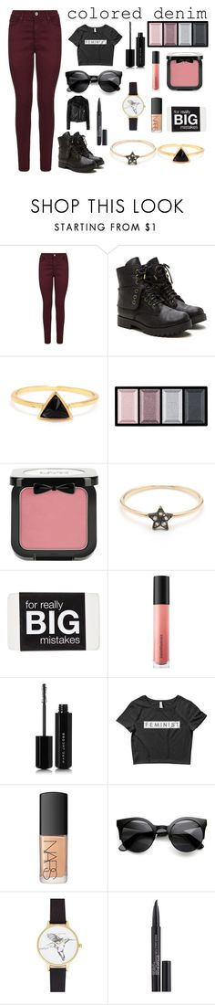 """Wait Red Not Blue"" by iheartevergreens on Polyvore featuring AG Adriano Goldschmied, Clé de Peau Beauté, NYX, Bare Escentuals, Marc Jacobs, NARS Cosmetics, Olivia Burton, Smashbox and Diesel"