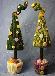 Вязанная елочка (елка) - новый год 2013,елка,вязаная игрушка,вязание,Праздник