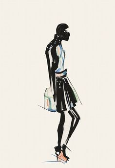 Kingston University's Vivian Chan received the runner-up student prize at the VA Illustration Awards for her depiction of London event Fashion Scout