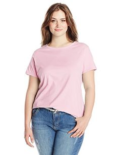 Just My Size Women's Plus-Size Short Sleeve Scoop Neck Tee, Pink Swish, 1X  Special Offer: $7.00  411 Reviews Your favorite cotton tee – in your pick of pretty colors. This best selling tee is specially cut for your curves, with an updated neckline and flattering non-chafe...