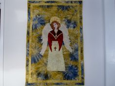 I loved creating this quilt.It was a gift for my daughter, who  loves angels..