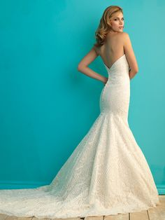 Allure Bridals: Style: 9259 Allure Bridals Collection 2015 2016 Wedding Dress Wedding Dresses Bridal Gown Bridal Gowns Vintage Lace Satin Tulle Mermaid A-Line Ball Gown Sheath Ivory Ruffles