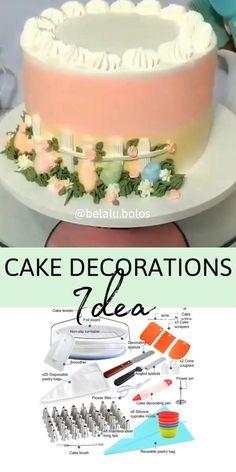Use cake tools for beautiful cake decoration cakedecorating pipingtips cakedesign bakingtips amazing cake art Cake Decorating Frosting, Cake Decorating Designs, Creative Cake Decorating, Creative Cakes, Cake Designs, Decorating Ideas, Cake Decorating For Beginners, Cake Decorating Techniques, Cake Decorating Tutorials
