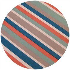 Mod Stripe Coral, Mod Squad by Dan Stiles for Birch Fabrics Organic