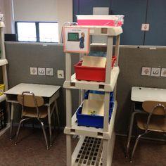 1:1 Teacher work stations.  #realautismclassrooms Repinned by AutismClassroom.com Follow us at http://www.pinterest.com/autismclassroom/