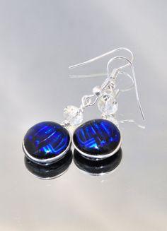 Blue Earrings Cobalt Blue Earrings Handmade