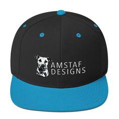 AmStaf Designs Logo Wool Blend Snapback Cap