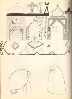 Saul Steinberg – Burka