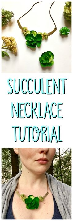 Try this succulent necklace tutorial for a fun jewelry piece that is sure to make a statement. It uses faux succulents and jewerly findings.