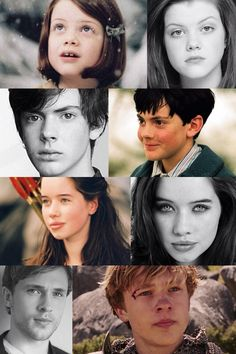 Chronicles of Narnia Kids Then and Now