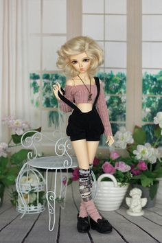 Top Bloomers & stokings for Minifee Narae BJD doll 1/4 size
