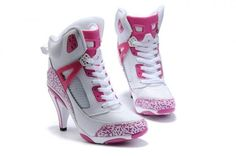 NIKE Jordan 2011 new women's high heels pink white - Air Jordan Shoes Series Womens Air Jordan - Nike Sneakers - Mobile Jordan Heels, Jordan Shoes For Women, Air Jordan Shoes, Jordan 3, Shoes Women, Michael Jordan, Jordan Swag, Jordan Nike, Ladies Shoes