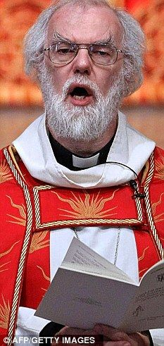 Rowan Williams, Archbishop of Canterbury...And so, you mad mad druid, I wish you farewell - perhaps even fondly.
