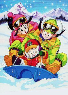 Special Piccolo-Vegeta & Goku blog (Storage scans) — HAPPY X-MAS ! Goku - Chichi & Gohan from scan of...