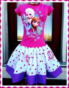 girls FROZEN Princess Anna Elsa Dress size by BlossomBlueBoutique, $44.99