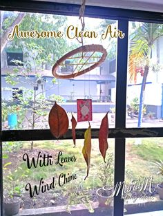 Awesome Clean Air With Leaves Wind Chime