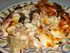 Indivia,radicchio e pancetta al forno