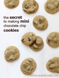 easy-to-make MINI chocolate chip cookies