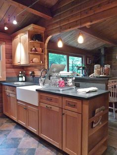 I like the cabinets and countertops here.
