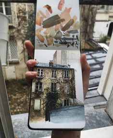 Printed on Natural Savoy Cotton Paper, this print features an original illustrative study my view during my stay in Montmartre. Dimensions: 5 x 7 (C) lilyseikajones 2018 Travel Sketchbook, Watercolor Sketchbook, Art Sketchbook, Watercolor And Ink, Watercolor Paintings, Artist Aesthetic, Guache, Sketchbook Inspiration, Urban Sketching