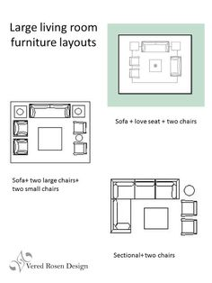 Pin It Most Popular Medium To Large Living Room Furniture Layout Ideas Vered Rosen