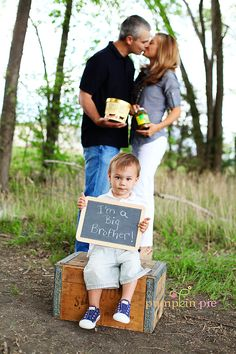 Also a cute idea for a pregnancy announcement -- why does everyone do pickles and ice cream? Mine would be..(pause to remember/contemplate) apples, oranges, yogurt, peanut butter...and yeah, ice cream.