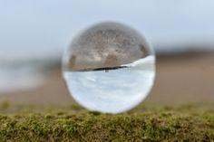 Hythe beach and the glass ball
