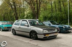 Silver VW with black hood My Dream Car, Dream Cars, Golf Tuning, Golf Mk3, Black Hood, Volkswagen, Vehicles, German, Tech