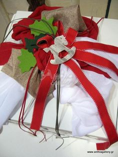 Κουτί βάπτισης με χριστουγεννιάτικα ταρανδάκια | anthiagallery.gr