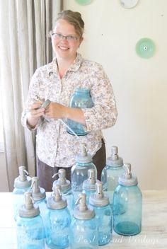 mason jar soap dispensers....a beautiful blog