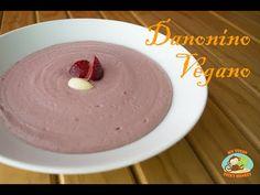 """Receta de Danonino Vegano sin Lacteos ni Azúcar (Postre Petit Suisse) -1/2 Kilo de fresas """"a medio"""" descongelar -40 Almendras peladas previamente remojadas d..."""