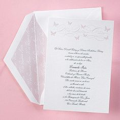 Fancy Flutter Quince Años Invitation. Only $1.80 each when you purchase 100!