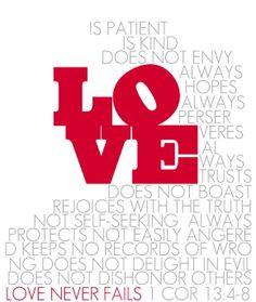 1 Corinthians 13:4-8.