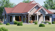 Modern Bungalow House Design, Pool Installation, Electrical Installation, Brick Laying, Roof Cleaning, Three Bedroom House, Public Bathrooms, Monster House Plans, Facades