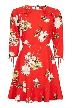 TALL Paint Floral Tea Dress