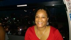 Bev on the new Farris Wheel  DT ATL
