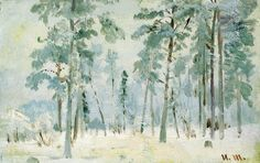 Forest in the frost.  - Ivan Shishkin