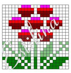 "Photo from album ""Вязания"" on Yandex. Mosaic Patterns, Cool Patterns, Crochet Patterns, Fair Isle Knitting Patterns, Knitting Charts, Mittens, Knit Crochet, Cross Stitch, Tapestry"