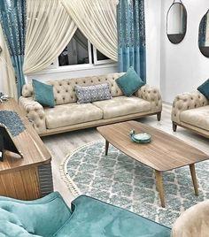 A harmonious and stylish home in which blue accents add a feeling of calm and serenity. Mavi vurguların ferah ve dingin bir his kattığı, uyumlu ve şık bir ev. Living Room Designs, Living Room Decor, Bedroom Decor, Home Decor Furniture, Furniture Design, Sofa Design, Interior Design, Blue Accents, Minimalist Living