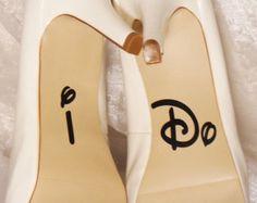 Einmal Schuh Hochzeit Schuh Abziehbilder von CraftyWitchesDecor