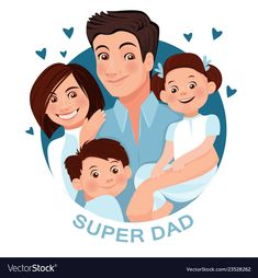 Print vector image on VectorStock Family Vector, Kids Vector, Vector Free, Family Portrait Drawing, Family Drawing, Family Sketch, Happy Fathers Day Images, Family Illustration, Father's Day Diy