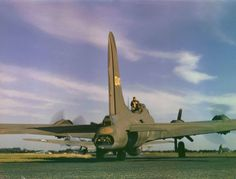 Margaret Bourke-White—Time & Life Pictures/Getty Images Not published in LIFE. American B-17 bomber during World War II, England, 1942. Read more: http://life.time.com/history/world-war-ii-color-photos-of-u-s-bombers-and-crews-in-england-1942/#ixzz2N3jCbTXq