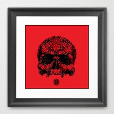 Rich Man  Framed Art Print by Sammy Macias - $34.00 Skull Artwork, Rich Man, Framed Art Prints, Movie Posters, Film Poster, Billboard, Film Posters