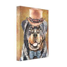Rottweiler Mix Puppies, Baby Rottweiler, Doberman Mix, Rottweiler Training, Popular Dog Breeds, Dog Portraits, Canvas Art Prints, Watercolor Art, Dog Lovers