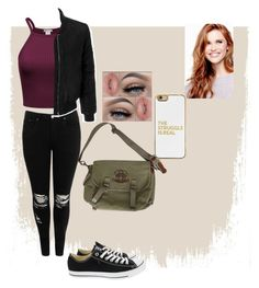 """""""School"""" by dirtynathanielx on Polyvore featuring Boohoo, Converse, LE3NO, Ralph Lauren, David's Bridal and BaubleBar"""