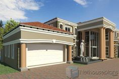 A Luxury 5 Bedroom Double Storey House Plans For Sale House Plans For Sale, Unique House Plans, Modern House Floor Plans, House Plans With Photos, Contemporary House Plans, Luxury House Plans, Dream House Plans, Dream Houses, 6 Bedroom House Plans