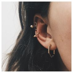 Ear huggers, so great for girls with only one piercing. @bingbangnyc