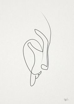 Mourning Art Print - by Quibe - simple line