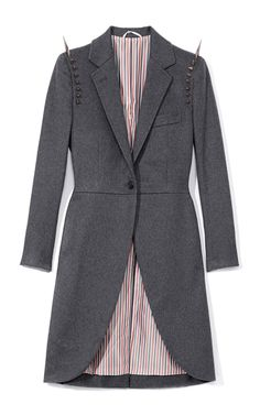 Shop Morning Cashmere Coat With Studs by Thom Browne Now Available on Moda Operandi