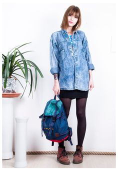 Stonewashed denim shirt 90s oversized blue vintage shirt   Pop Sick   ASOS Marketplace